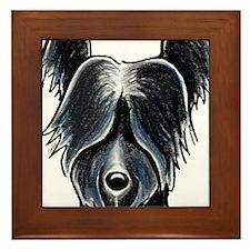 Skye Terrier Portrait Framed Tile