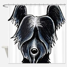 Skye Terrier Portrait Shower Curtain