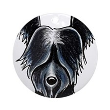 Skye Terrier Portrait Ornament (Round)