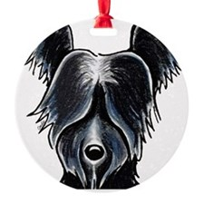 Skye Terrier Portrait Ornament