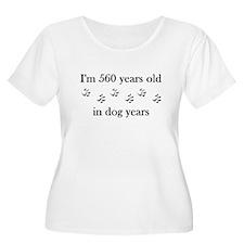 80 birthday dog years 4-1 Plus Size T-Shirt