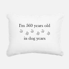80 birthday dog years 4-1 Rectangular Canvas Pillo
