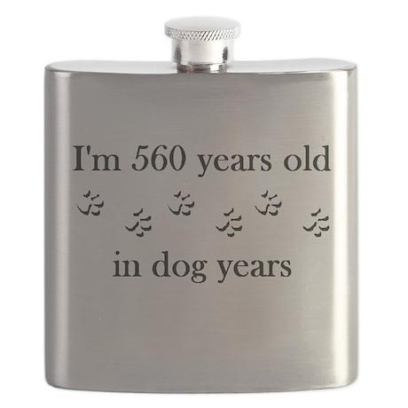80 birthday dog years 4-1 Flask