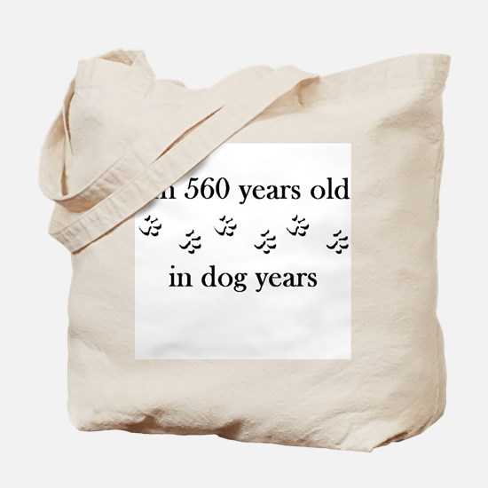 80 birthday dog years 4-1 Tote Bag