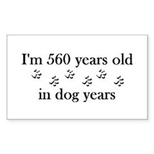 80 birthday dog years 4-2 Decal