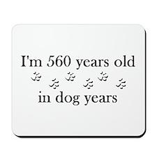 80 birthday dog years 4-2 Mousepad