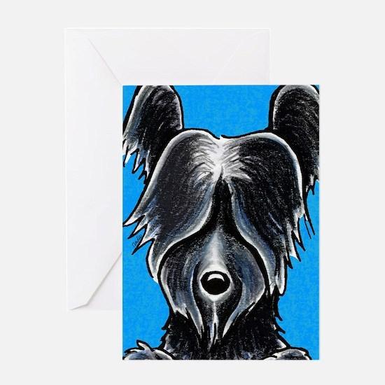 Skye Terrier Portrait Greeting Card