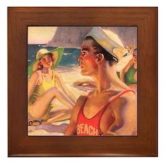Young Love 2 Framed Tile