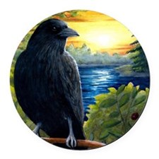 Bird 63 Round Car Magnet