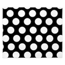 Black and white polka dot King Duvet