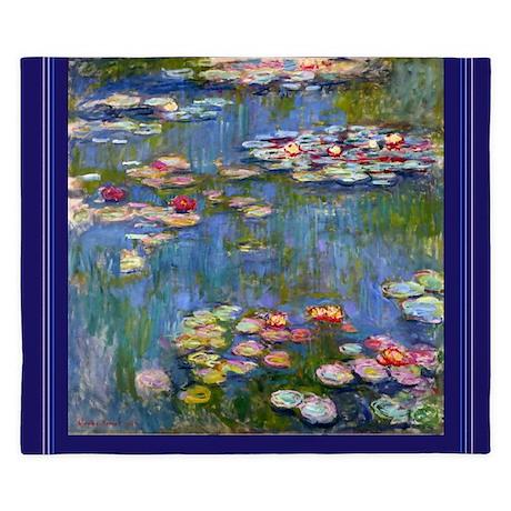 Water Lilies 1916 by Claude Monet King Duvet