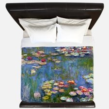 Water Lilies 1916 by Claude Monet King Duvet