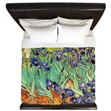 Van Gogh Irises purple floral King Duvet