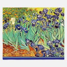 Van Gogh Irises purple floral King Duvet