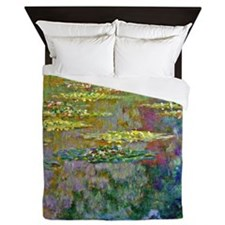 Water Lilies 1904 by Claude Monet Queen Duvet