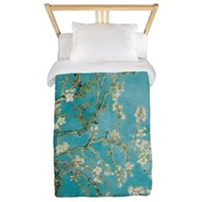 Van Gogh Almond tree flowers - Blue Twin Duvet