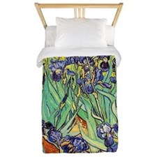 Van Gogh Irises purple floral Twin Duvet