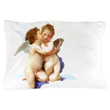 Bouguereau First Kiss Angels Pillow Case