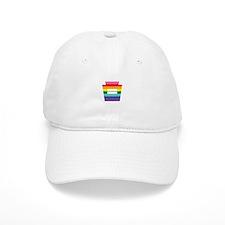 PA Keystone Equality Rainbow Graphic Baseball Baseball Baseball Cap