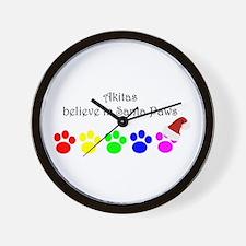 Akitas Believe Wall Clock