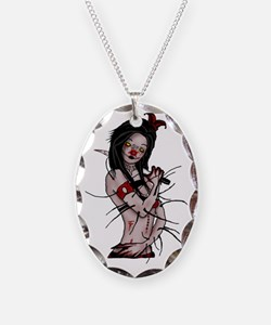 Nightmare - Clown Necklace Oval Charm