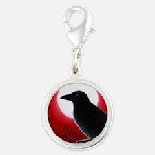 Bird 62 Silver Round Charm