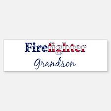 Firefighter Grandson Bumper Bumper Bumper Sticker