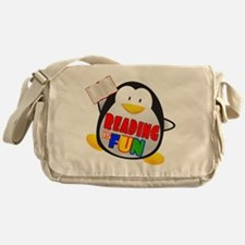 Reading is Fun Penguin Messenger Bag