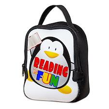 Reading is Fun Penguin Neoprene Lunch Bag