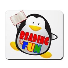 Reading is Fun Penguin Mousepad