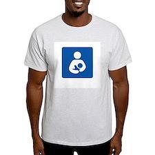 Breastfeeding Friendly Ash Grey T-Shirt