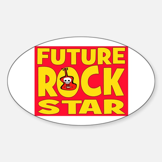 FUTURE ROCK STAR Sticker (Oval)