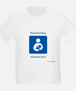 Breastfeeding Welcome Kids T-Shirt