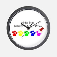 Akita Inus Believe Wall Clock
