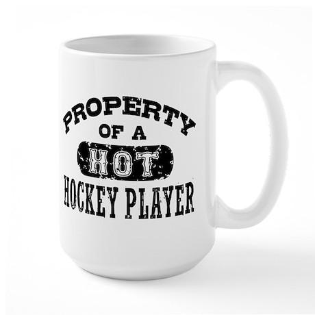 Property of a Hot Hockey Player Large Mug