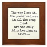 Preserve Us! Framed Tile