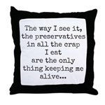 Preserve Us! Throw Pillow