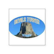 Devils Tower National Monument Oval Sticker