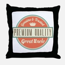 Vintage Great Uncle Throw Pillow
