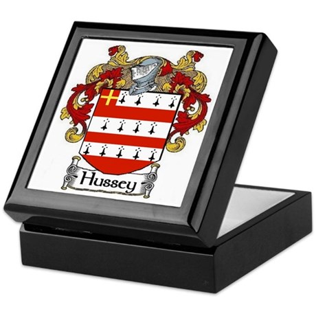 Hussey Coat of Arms Keepsake Box