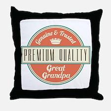 Vintage Great Grandpa Throw Pillow