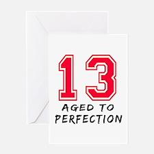 13 year birthday designs Greeting Card