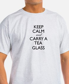 Keep Calm and Carry a Tea Glass T-Shirt