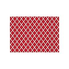 Red Quatrefoil 5'x7'Area Rug