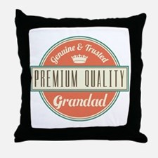 Vintage Grandad Throw Pillow