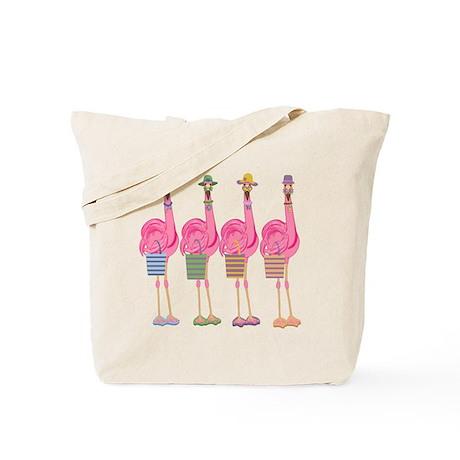 Snazzy Flamingos Tote Bag