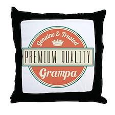 Vintage Grampa Throw Pillow