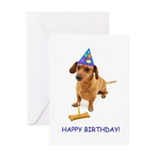 Dachshund Birthday Card Greeting Card