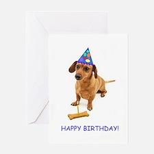 Dachshund Birthday Card Greeting Card