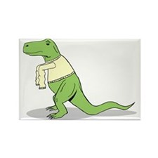 T-Rex Hates Sweaters Rectangle Magnet